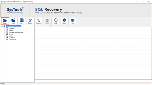 SQL database recovery software home page