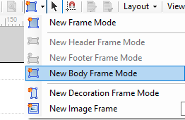Insert a frame